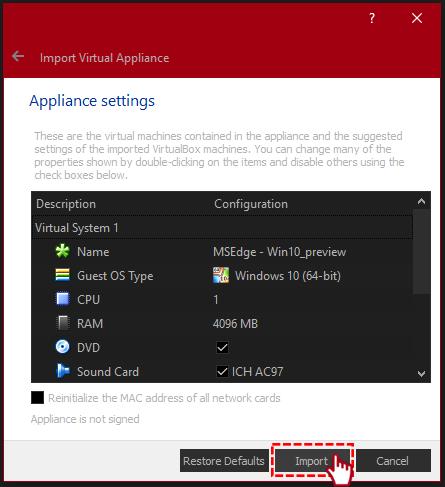 virtualbox import options